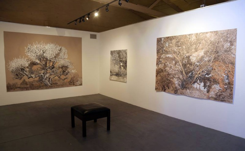 In situ view of Intimate Grandeur exhibition 2014 by Elizabeth Nelson